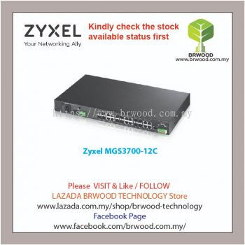 Zyxel MGS3700-12C: 12-port Combo GbE L2 Managed Switch