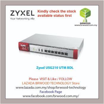 ZYXEL USG210 UTM BDL: NEXT GENERATION UTM FIREWALL APPLIANCE UTM BUNDLE (AS,AV,CF,IDP) 1 YEAR
