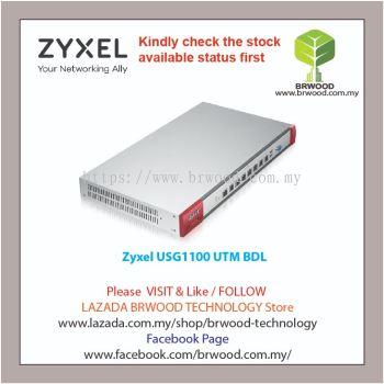 ZYXEL USG1100 UTM BDL: NEXT GENERATION UTM FIREWALL APPLIANCE UTM BUNDLE (AS,AV,CF,IDP) 1 YEAR