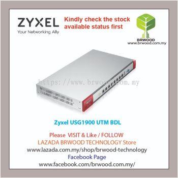 ZYXEL USG1900 UTM BDL: NEXT GENERATION UTM FIREWALL APPLIANCE UTM BUNDLE (AS,AV,CF,IDP) 1 YEAR