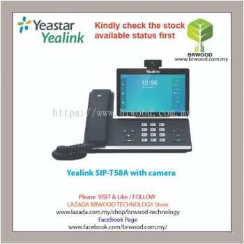 Yealink SIP-T58A w/ camera: Smart Business Desktop Phone c/w camera
