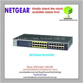 NETGEAR JGS524P: 24 port Gigabit Ethernet Smart Managed Plus Switches with 12 port PoE