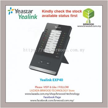 Yealink EXP40: High-Performance LCD Expansion Module for SIP-T46S, SIP-T46G, SIP-T48S and SIP-T48G