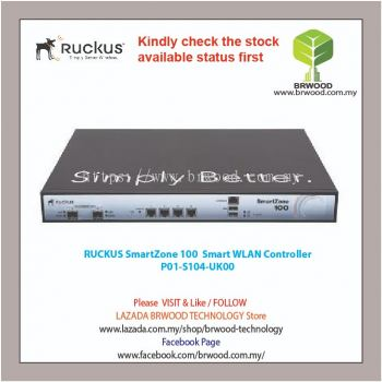 RUCKUS P01-S104-UK00: SmartZone 100 WLAN Controller for Mid-Size Enterprise