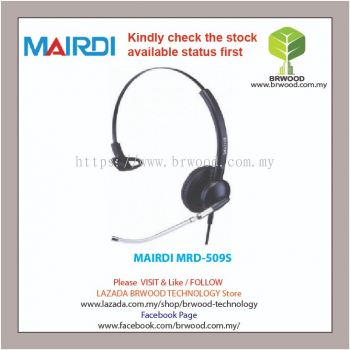 MAIRDI MRD-509S: Mairdi Single ear (Monaural) voice tube microphone boom Call Center Headsets