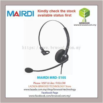 MAIRDI MRD-510S: Mairdi Single ear (Monaural) plastic hose microphone boom For Call Center Headsets