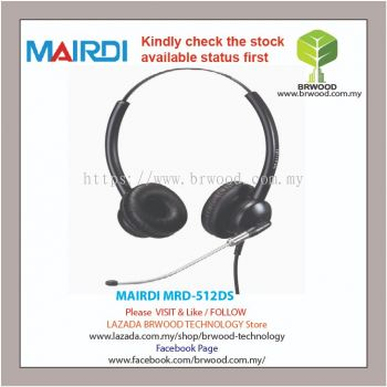 MAIRDI MRD-512DS: Mairdi Double ear (Binaural) rigid metal tube microphone boom For Call Center Headsets