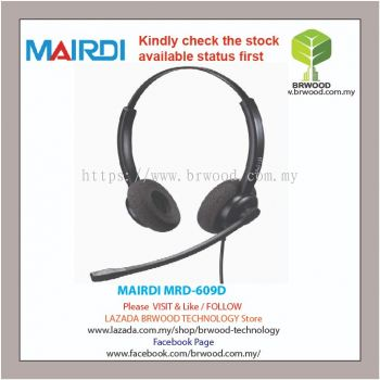 MAIRDI MRD-609D: Mairdi Double ear (Binaural)  durable nylon-made microphone boom For Call Center Headsets