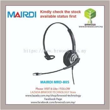 MAIRDI MRD-805: Mairdi Single ear (Monaural) sleeving gooseneck microphone boom For Call Center Headsets