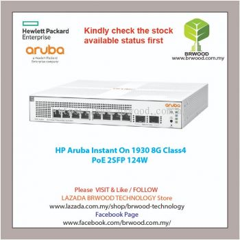 HP ARUBA JL681A: Instant On 1930 8G Class 4 PoE 2SFP 124W SWITCH
