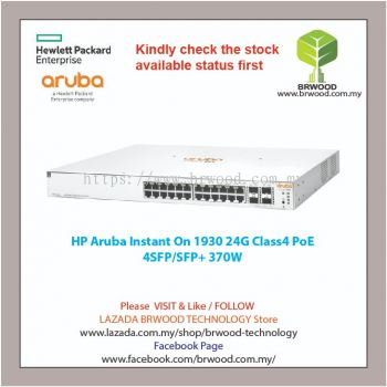 HP Aruba JL684A: Instant On 1930 24G Class 4 PoE 4SFP/SFP+ 370W SWITCH