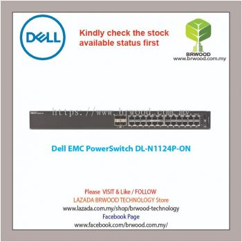 Dell EMC PowerSwitch N1124P-ON 24G (1 thru 12 PoE) c/w 2 SFP Switch