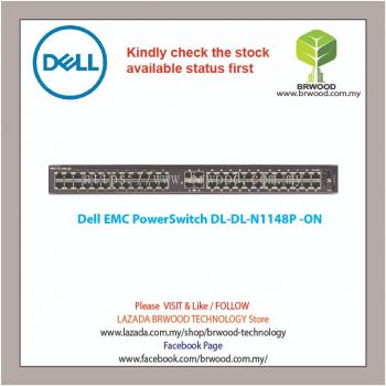 Dell EMC PowerSwitch N1148P-ON 48G (1 thru 24 PoE port) c/w 2x SFP Switch