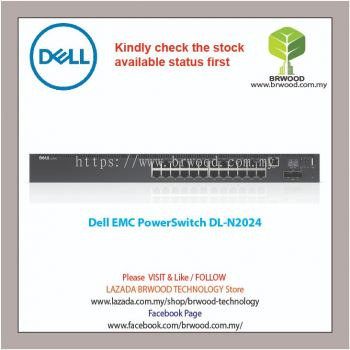 Dell EMC PowerSwitch N2024 24G c/w 2 SFP+ 10Gbps Switch