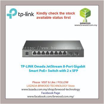TP-LINK OMADA :TL-SG2210P(T1500G-10PS) JETSTREAM 8-PORT PoE+ GIGABIT With 2 x SFP SMART SWITCH