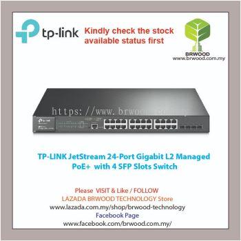 TP-LINK T2600G-28MPS(TL-SG3424P): JetStream 24-Port Gigabit L2 Managed PoE+ with 4 SFP Slots Switch