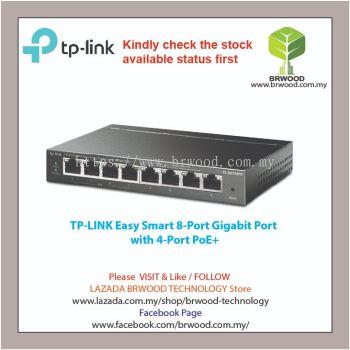TP-LINK TL-SG108PE: EASY SMART 8-PORT GIGABIT WITH 4-PORT POE+ SWITCH
