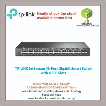 TP-LINK T1600G-52TS(TL-SG2452): JetStream 48-Port Gigabit Smart Switch with 4 SFP Slots