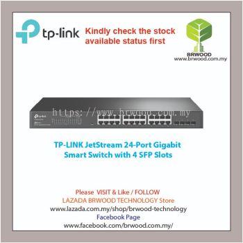 TP-Link T1600G-28TS(TL-SG2424): JetStream 24-Port Gigabit Smart Switch with 4 SFP Slots