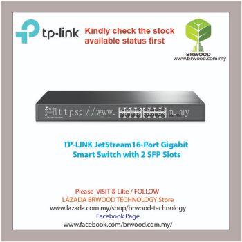 TP-Link T1600G-18TS(TL-SG2216): JetStream16-Port Gigabit Smart Switch with 2 SFP Slots