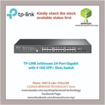 TP LINK T1700G-28TQ: JetStream 24-Port Gigabit Stackable Smart Switch with 4 10GE SFP+ Slots