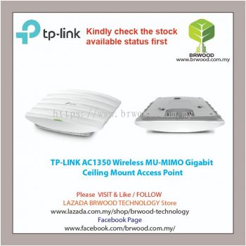TP LINK EAP225: AC1350 Wireless MU-MIMO Gigabit  Ceiling Mount Access Point