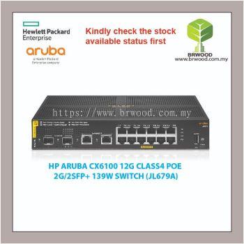 HP ARUBA JL679A : CX6100 12G CLASS4 POE 2G/2SFP+ 139W SWITCH