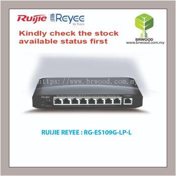 RUIJIE REYEE RG-ES109G-LP-L: 9 port 10/100/1000BASE-T Unmanaged PoE Switches