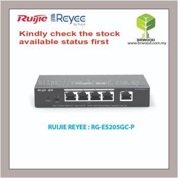 RUIJIE REYEE RG-ES205GC-P: 5 Port Gigabit Cloud Managed Layer 2 PoE Switches for IP Surveillance