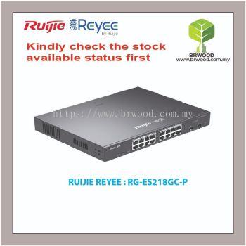 RUIJIE REYEE RG-ES218GC-P:16 PORT GIGABIT C/W 2 SFP BASE-X CLOUD MANAGED LAYER 2 POE SWITCHES FOR IP SURVEILLANCE