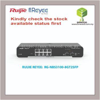 RUIJIE REYEE RG-NBS3100-8GT2SFP: 8GE C/W 2 SFP GIGABIT CLOUD MANAGED SWITCHES