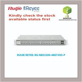 RUIJIE REYEE RG-NBS3200-48GT4XS-P: 48GE POE/POE+ C/W 4 SFP+ 370W POE GIGABIT CLOUD MANAGED SWITCHES