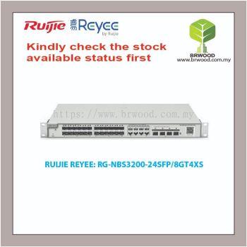 RUIJIE REYEE RG-NBS3200-24SFP/8GT4XS: 24 SFP c/w 8GE COMBO AND 4 SFP+ GIGABIT CLOUD MANAGED SWITCHES