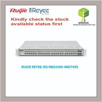 RUIJIE REYEE RG-NBS3200-48GT4XS: 48GE C/W 4 SFP+ GIGABIT CLOUD MANAGED SWITCHES