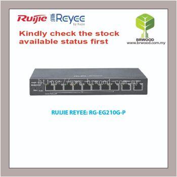 RUIJIE REYEE RG-EG210G-P: 10 GE PORT C/W 8 POE/POE+ WITH 70W GIGABIT CLOUD MANAGED ROUTER