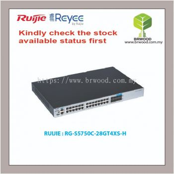 RUIJIE RG-S5750C-28GT4XS-H: RG-S5750-H 28-PORT GIGABIT L3 MANAGED SWITCH WITH SFP+