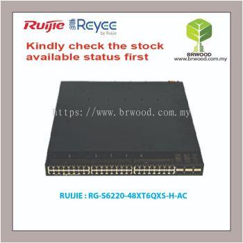 RUIJIE RG-S6220-48XT6QXS-H-AC: RG-S6220 48-10G RJ45 PORTS DATACENTER SWITCH