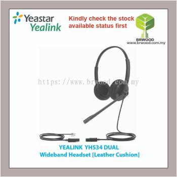 YEALINK YHS34 DUAL WIDEBAND HEADSET [Leather Cushion] FOR YEALINK IP PHONE