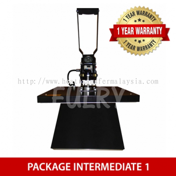 (PACKAGE INTERMEDIATE 1) Heat Press Machine 40x50cm with Auto Open + Silhouette Cameo V3 Plotter + E
