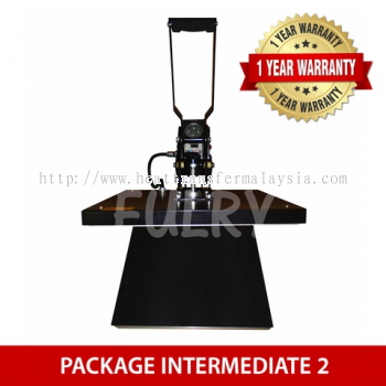 (PACKAGE INTERMEDIATE 2) Heat Press Machine 40x50cm with Auto Open + Silhouette Cameo V3 Plotter + E