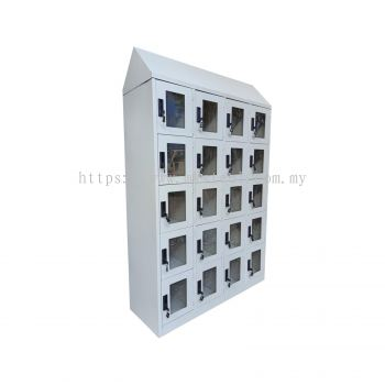 20 COMPARTMENT LOCKER WITH ACRYLIC DOOR