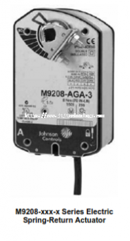 M9208-xxx-x Series Electric Spring-Return Actuators
