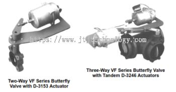 D-3153, D-3244, D-3246 Pneumatic Actuators for VF Series Butterfly Valves