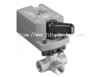 VG1000 Series Three-Way,Non-Spring-Return, Stainless Steel  Ball and Stem Ball Valve Assemblies