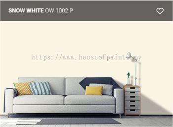 Nippon Paint Satin-Glo - Snow White (OW1002P)