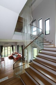 Wood Handrail Glass Railing