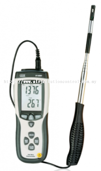 Hot-wired	Anemometer for duct velocity & temperature measurement