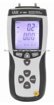 Air Flow Meter for pressure, air flow or air velocity measurement