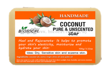 Handmade coconut soap Unscented