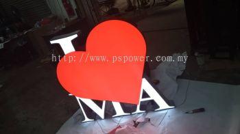 LED Signage - EG Box up with lighting